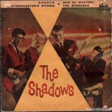 Discos de vinilo: THE SHADOWS - APACHE, MAN OF MYSTERY, THE STRANGER.../ EP LA VOZ DE SU AMO RF-5954. Lote 292146053