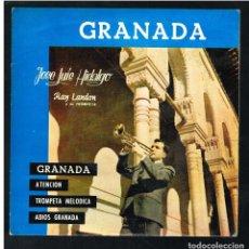 Discos de vinilo: JOSE LUIS HIDALGO - GRANADA / ATENCIÓN / TROMPETA MELÓDICA +1 - EP 1970 - SOLO PORTADA, SIN VINILO. Lote 292167793