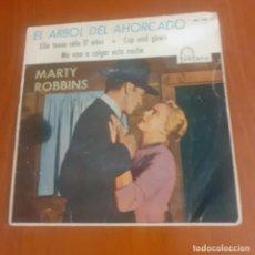 Discos de vinilo: SINGLE DE 1960 DE LA BANDA SONORA DE LA PELICULA EL ARBOL DEL AHORCADO. Lote 292202528