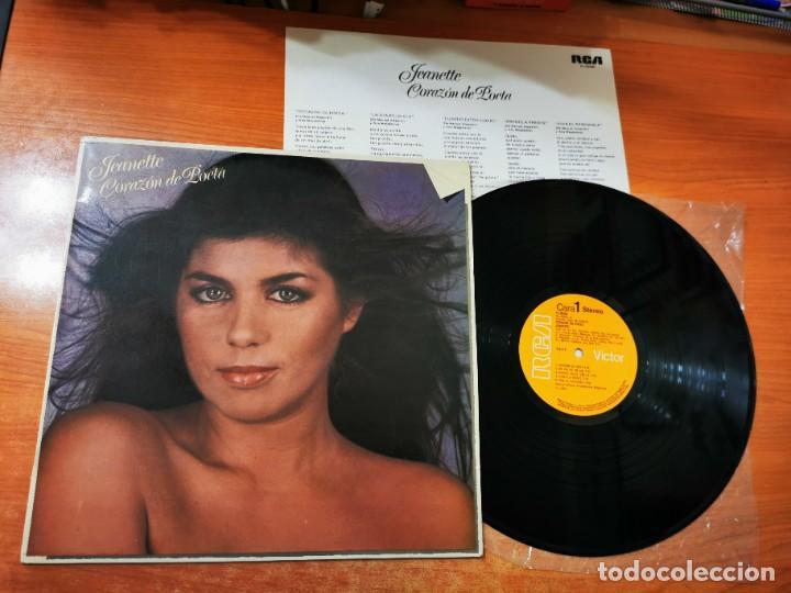 JEANETTE CORAZON DE POETA LP VINILO DEL AÑO 1981 ENCARTE ESPAÑA MANUEL ALEJANDRO CONTIENE 10 TEMAS (Música - Discos - LP Vinilo - Solistas Españoles de los 70 a la actualidad)