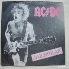 Discos de vinil: JAILBREAK - FLING THING / AC - DC / SINGLE VINILO. Lote 292237373