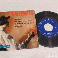 Discos de vinilo: LA GALLEGUITA / RENUNCIA + 3 / EP - BELTER-1968 / MBC. ***/***. Lote 292239683