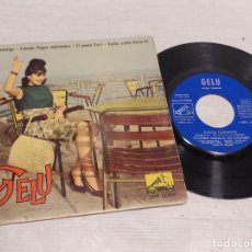 Discos de vinilo: GELU / CANTA CONMIGO + 3 / EP - LA VOZ DE SU AMO-1962 / MBC. ***/***. Lote 292242683