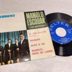Discos de vinilo: MANOLO ESCOBAR Y SUS GUITARRAS / LA FLOR SILVESTRE + 3 / EP - BELTER-1964 / MBC. ***/***. Lote 292245513