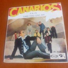Discos de vinilo: SINGLE DE LOS CANARIOS PAIN, AÑO 1967. Lote 292246528