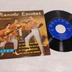 Discos de vinilo: MANOLO ESCOBAR Y SUS GUITARRAS / EL PRIMER BAUTIZO + 3 / EP - BELTER-1960 / MBC. ***/***. Lote 292246903