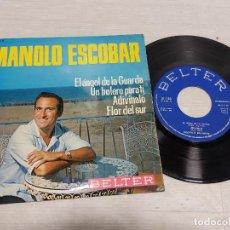 Discos de vinilo: MANOLO ESCOBAR / EL ÁNGEL DE LA GUARDA + 3 / EP - BELTER-1965 / MBC. ***/***. Lote 292248158