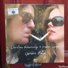 Discos de vinilo: CHRISTINA ROSENVINGE&NACHO VEGAS–VERANO FATAL - LP VINILO NUEVO PRECINTADO. Lote 292295073