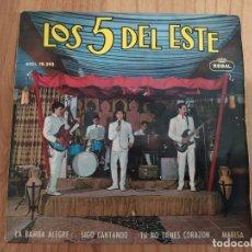 Discos de vinilo: DISCO EP DE VINILO LOS 5 DEL ESTE: LA BAMBA ALEGRE SIGO CANTANDO TÚ NO TIENES CORAZÓN MARISA. Lote 292306573