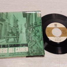 Discos de vinilo: MANUEL VALLS-SALVADOR ESPRIU / LES VEUS DEL CARRER / EP-CONCENTRIC-1966 / MBC. ***/***. Lote 292318088