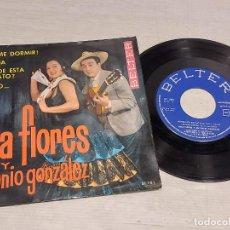 Discos de vinilo: LOLA FLORES Y ANTONIO GONZÁLEZ / DEJAME DORMIR + 3 / EP - BELTER-1964 / MBC. ***/***. Lote 292319003