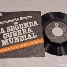 Discos de vinilo: DOCUMENTO SONORO DE LA SEGUNDA GUERRA MUNDIAL / SINGLE-PROMO 33 R.P.M. 1979 / MBC. ***/***. Lote 292320708