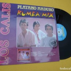 "Discos de vinilo: 12"" LOS CALIS - PLATANO MADURO (RUMBA MIX) - 04.3295 - FIRMADO GRUPO (M-/M-). Lote 292332578"