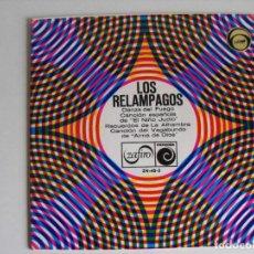 Discos de vinilo: LOS RELAMPAGOS. DANZA DEL FUEGO Y.... AÑOS 60.. Lote 292335183