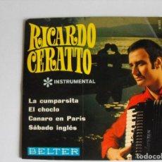 Discos de vinilo: RICARDO CERATTO. TANGOS, LA CUMPARSITA. . AÑOS 60.. Lote 292335568