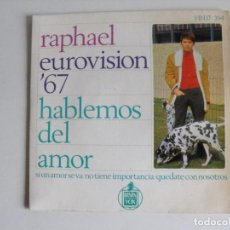 Discos de vinilo: RAPHAEL. HABLEMOS DEL AMOR. AÑO 1967.. Lote 292353358