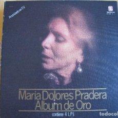 Discos de vinilo: BOX SET - MARIA DOLORES PRADERA - ALBUM DE ORO (SPAIN, CAJA CON 4 LP'S, ZAFIRO 1980). Lote 292360978