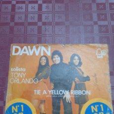 Discos de vinilo: TONY ORLANDO DAWN SINGLE. Lote 292369303