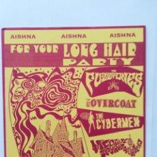 Discos de vinilo: AISHNA RECORDS FOR YOUR LONG HAIR PARTY EP 1995 FUZZTONES THE OVERCOAT CYBERMEN NICOTYNE SPIRAL SUR. Lote 292405108