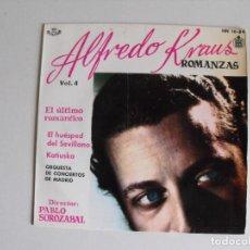 Discos de vinilo: ALFREDO KRAUS. ROMANZAS. AÑOS 60.. Lote 292507908