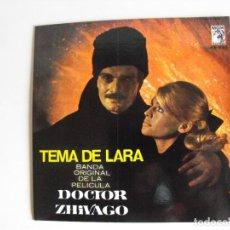 Discos de vinilo: TEMA DE LARA. BANDA SONORA DE DOCTOR ZHIVAGO. AÑOS 60.. Lote 292511048