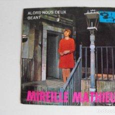 Discos de vinilo: MIRELLE MATHIEU. ALORS NOUS DEUX. AÑOS 60.. Lote 292513633