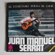 Discos de vinilo: JOAN MANUEL SERRAT. POEMA DE AMOR. AÑOS 60.. Lote 292513788