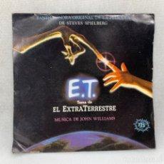 Discos de vinil: SINGLE JOHN WILLIAMS - E.T. TEMA DE EL EXTRATERRESTRE - ESPAÑA - AÑO 1982. Lote 292535443