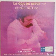 Discos de vinilo: JOSÉ MARÍA IÑIGO / LA OCA DE NIEVE DE PAUL GALLICO / LP-GATEFOLD - RCA-VICTOR- / MBC. ***/***. Lote 292562833