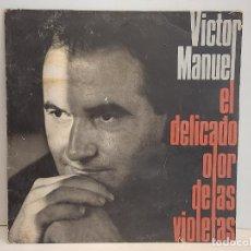 Discos de vinilo: VICTOR MANUEL / EL DELICADO OLOR DE LAS VIOLETAS / LP - ARIOLA-1990 / MBC. ***/*** INSERTO. Lote 292563323