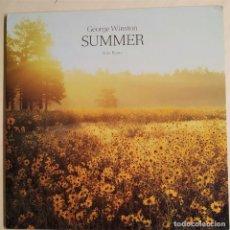 Discos de vinilo: GEORGE WINSTON - SUMMER (PIANO SOLOS), USA 1991, IMPECABLE (NM_NM). Lote 292569108