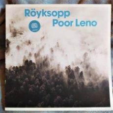 Discos de vinilo: RÖYKSOPP - POOR LENO, UK 2002, WALL OF SOUND WALLT079, COMO NUEVO(NM_NM). Lote 292570468