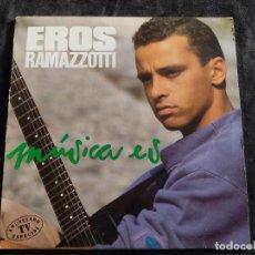 Discos de vinil: LP- EROS RAMAZZOTTI-MÚSICA ES- AÑO 1988 N.8. Lote 292621393