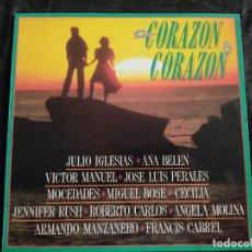 Discos de vinil: DE CORAZON A CORAZON-JULIO IGLESIAS/ ANA BELEN/ VICTOR MANUEL/ JOSE LUIS PERALES/ N.62. Lote 292955298