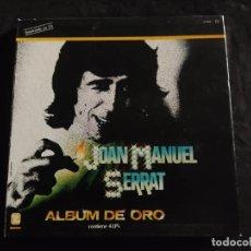 Discos de vinilo: CAJA JOAN MANUEL SERRAT ALBUM DE ORO BUEN ESTADO GENERAL 4 LPS ZAFIRO 1981 N.77. Lote 292959613
