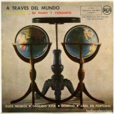 Discos de vinilo: ESQUIVEL, SU PIANO Y CONJUNTO - A TRAVÉS DEL MUNDO CON ESQUIVEL - EP SPAIN 1959 - RCA 3-20243. Lote 293143463