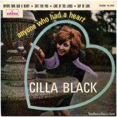 Discos de vinilo: CILLA BLACK - ANYONE WHO HAD A HEART - EP SPAIN 1964 - ODEON DSOE 16.592. Lote 293151898