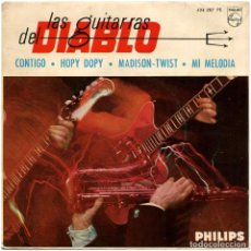 "Discos de vinilo: LAS GUITARRAS DEL DIABLO (LES GUITARES DU DIABLE) - ""TWIST, SIEMPRE TWIST"" - EP SPAIN 1962 - PHILIP. Lote 293152028"