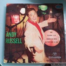 Discos de vinilo: ANDY RUSSELL - WHY / VOLVERÁS A MÍ / CANCIÓN DE ORFEO / UN TRATO CON LA LUNA (COLUMBIA, SPAIN, 1960). Lote 293161523