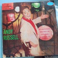 Discos de vinilo: ANDY RUSSELL - EN LA HORA DEL ROMANCE / MADRE BENDITA SEAS / EN TUS BRAZOS (COLUMBIA, SPAIN, 1960). Lote 293161553
