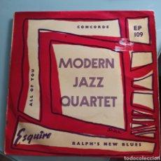 Discos de vinilo: MODERN JAZZ QUARTET - CONCORDE (ESQUIRE, UK, 1956). Lote 293163703