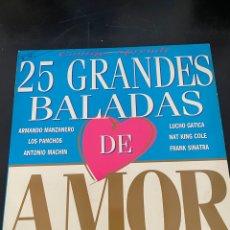 Discos de vinilo: 25 GRANDES DE LA BALADA. Lote 293166623