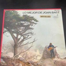 Discos de vinilo: LO MEJOR DE JOAN BÁEZ. Lote 293170228
