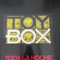 Discos de vinilo: TOY BOX TODA LA NOCHE. Lote 293192308