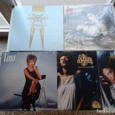 Discos de vinilo: LOTE DE 5 DISCOS DE VINILO DE MADONNA, T. TURNER, D.ROSS Y D.SUMMER DE 33 RPM TOTAL 6 LP. Lote 293206963