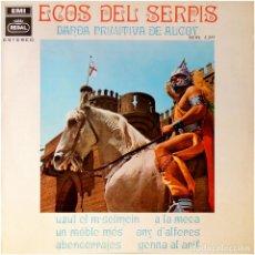 Discos de vinilo: BANDA PRIMITIVA DE ALCOY - ECOS DEL SERPIS - LP SPAIN 1968 - REGAL SCXL 3.317. Lote 293218908