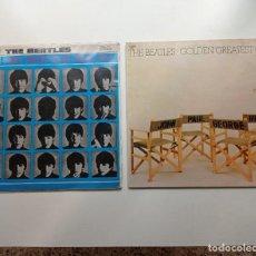 Discos de vinilo: LOTE DE 2 DISCOS DE VINILO DE THE BEATLES DE 33 RPM DE 1964 QUE NOCHE LA DE AQUEL DIA Y OTRO DE 1979. Lote 293223643