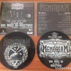 Discos de vinilo: MEMORIAM - THE HELLFIRE DEMOS 7'' SKINHEAD PUNK OI HARDCORE METAL DEATH PICTURE DISC. Lote 293230983