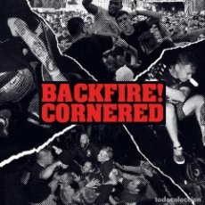 Discos de vinilo: BACKFIRE + CORNERED - SPLIT 7'' SKINHEAD PUNK OI HARDCORE METAL. Lote 293231558