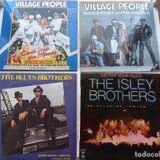 Discos de vinilo: LOTE DE 4 DISCOS LP DE VINILO 2 DE VILLAGE PEOPLE, 1 BLUE BROTHERS Y 1 ISLEY BROTHERS DE 33 RPM. Lote 293259338